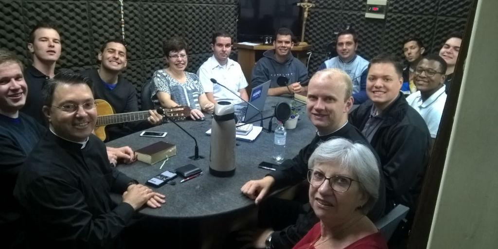 20/11/18 - Mons. Valnei, Pe. Felipe e seminaristas da Diocese de NH