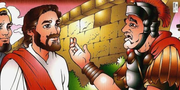 Jesus cura o empregado do oficial romano
